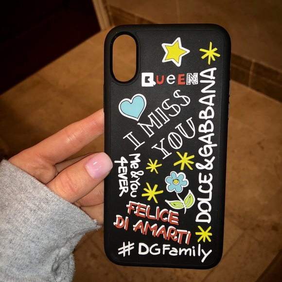 size 40 d27ae f9550 DOLCE AND GABBANA IPHONE X CASE LIMITED EDITION NWT